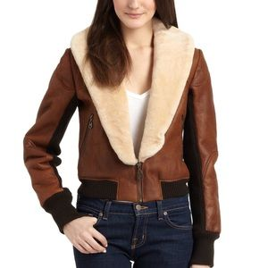 Doma Cropped Shearling Bomber